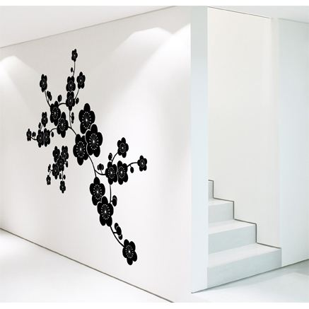 l 39 art de poser un sticker mural blog d co. Black Bedroom Furniture Sets. Home Design Ideas
